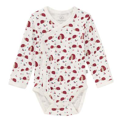 Baby-Mädchen-Wickelbody mit Igel-Muster