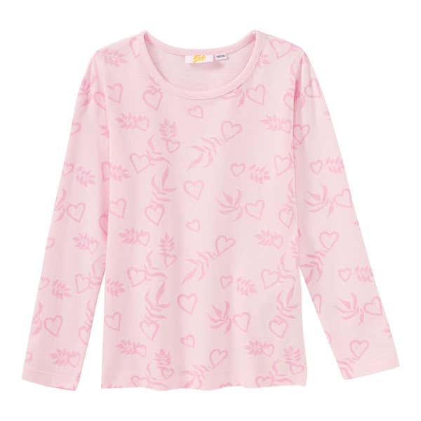 Mädchen-Shirt mit Herzmuster