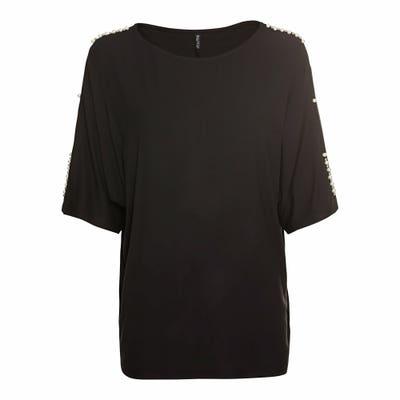 Damen-T-Shirt mit Perlenverzierung