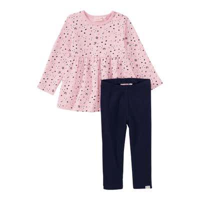 Baby-Mädchen-Set mit Sweatshirt, 2-teilig