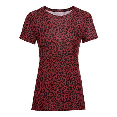 Damen-T-Shirt mit trendigen Mustern