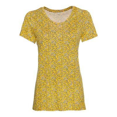 Damen-T-Shirt mit Blümchen-Muster