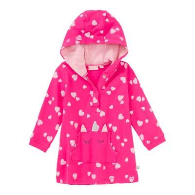 Baby-Mädchen-Sweatkleid mit Herzmuster