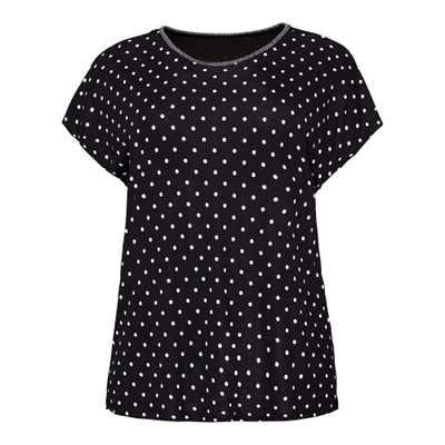 Damen-T-Shirt mit Punkte-Muster, große Größen