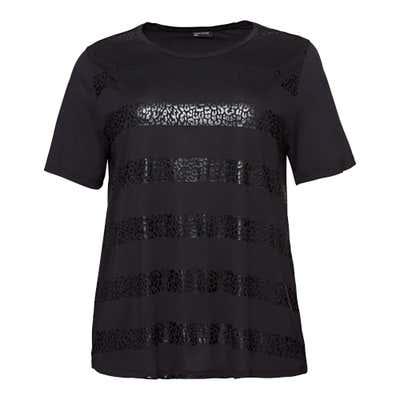Damen-T-Shirt mit Zierstreifen, große Größen