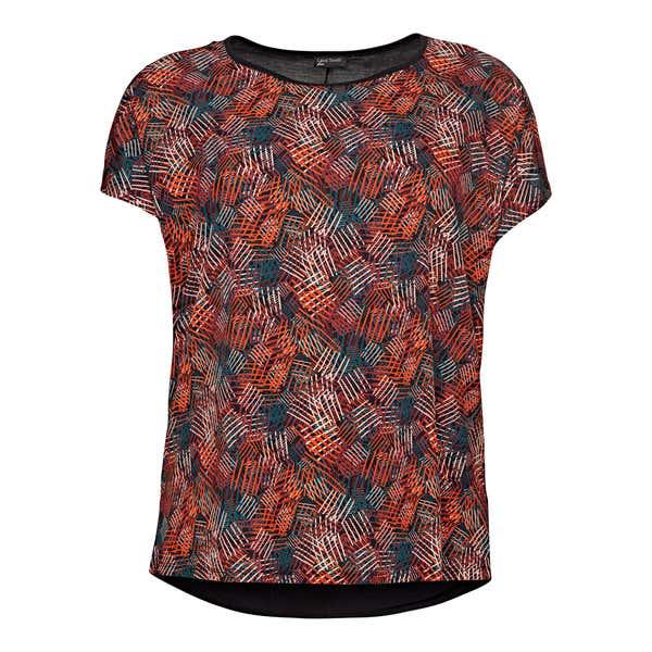 Damen-T-Shirt mit modischem Muster, große Größen