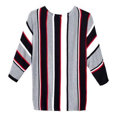 Damen Pullover mit trendigem Blockstreifen