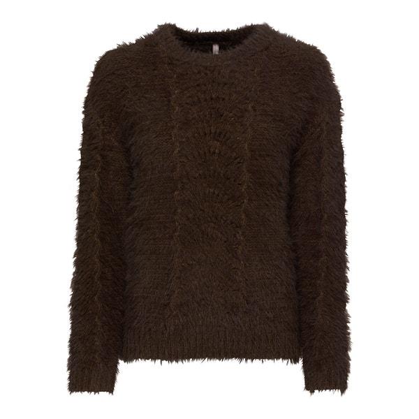 Damen-Pullover in flauschiger Qualität