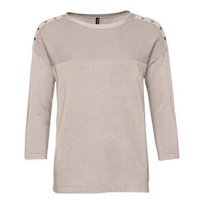 Damen-Pullover mit Zierknöpfen an der Schulter