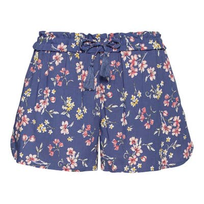 Damen-Shorts mit Blumenmuster