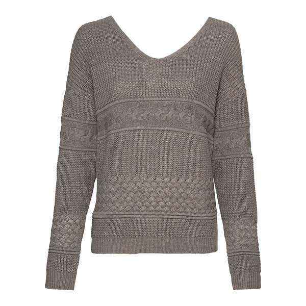 Damen-Pullover mit Ajour-Muster