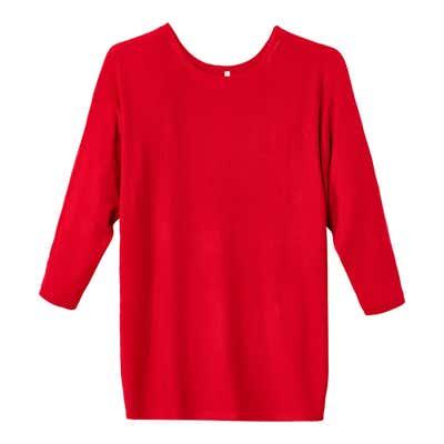 Damen-Pullover mit stylischen Fledermausärmeln