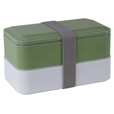 Doppel-Lunchbox, ca. 18x11x10cm