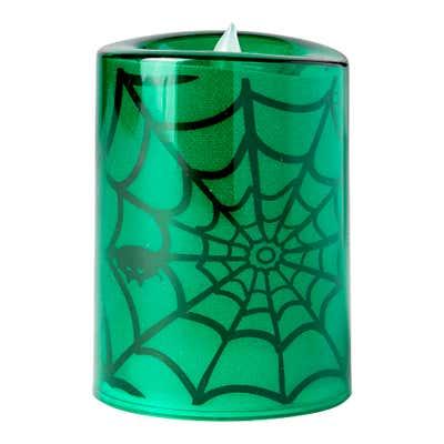 LED-Kerze mit Halloween-Motiv, ca. 12x8cm