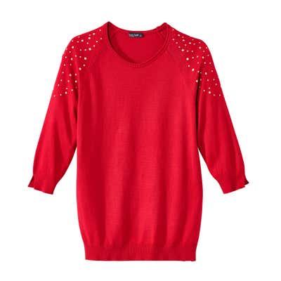 Damen-Pullover mit stylischen Raglan-Ärmeln