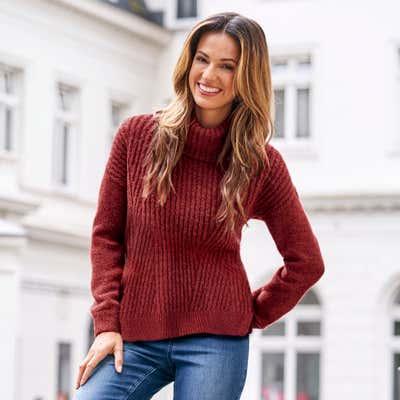 Damen-Pullover mit traumhaftem Strickmuster