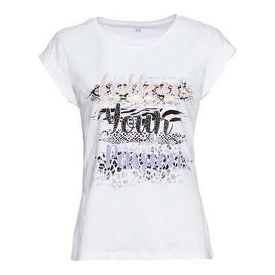 Damen-T-Shirt mit elegantem Frontaufdruck