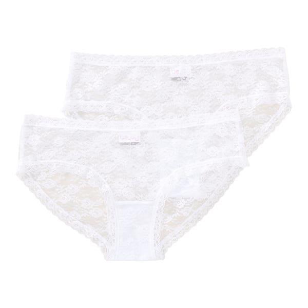 Damen-Hipster-Panty aus hübscher Vollspitze, 2er-Pack