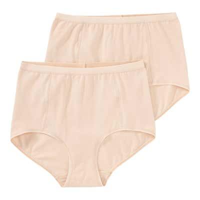 Damen-Taillenslip mit Verstärkung, 2er Pack