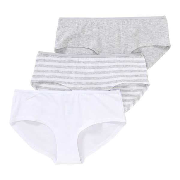 Damen-Panty mit Ringelmuster, 3er Pack