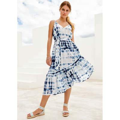 Damen-Kleid mit attraktiven Spaghettiträgern