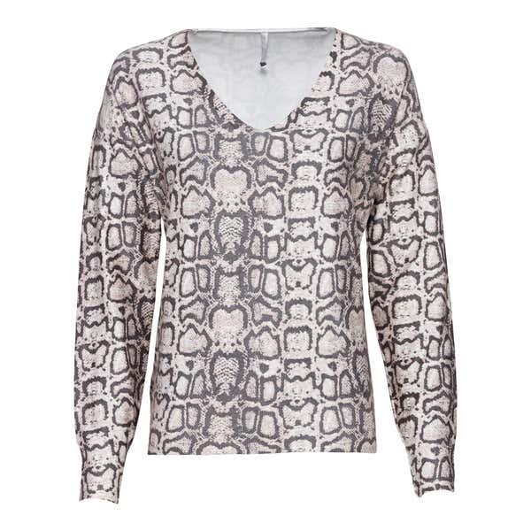 Damen-Pullover mit Schlangenhaut-Optik