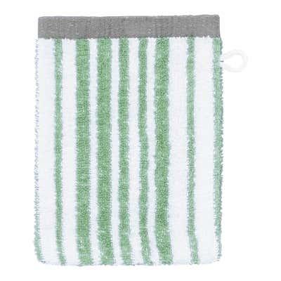 Waschhandschuh mit trendigem Streifenmuster, 16x21cm