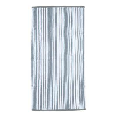 Duschtuch mit trendigem Streifenmuster, 70x140cm