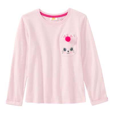 Mädchen-Shirt mit süßer Brusttasche