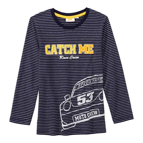 Jungen-Shirt mit appliziertem Schriftzug
