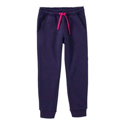 Mädchen-Jogginghose mit Kontrast-Kordel