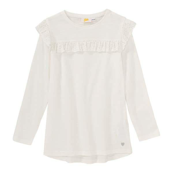 Mädchen-Shirt mit glitzernden Rüschen