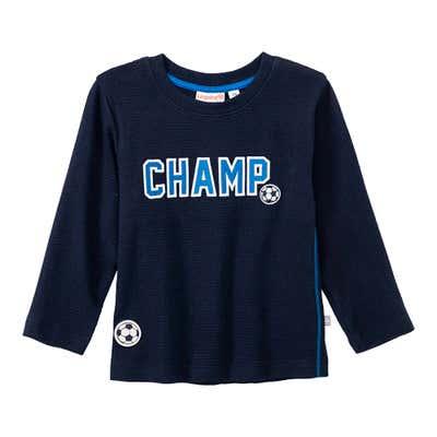 Baby-Jungen-Shirt mit Fußball-Applikationen