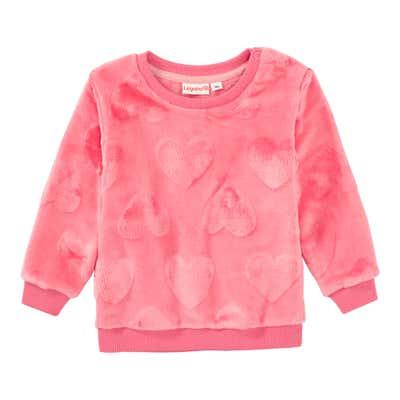 Baby-Mädchen-Sweatshirt mit geprägtem Herzmuster