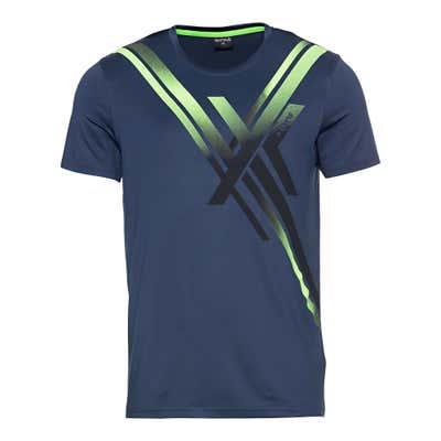 Herren-Fitness-T-Shirt mit trendigen Kontrast-Streifen