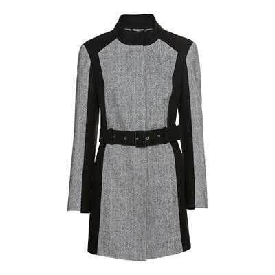 Damen-Blazermantel mit Wolle, mit Gürtel