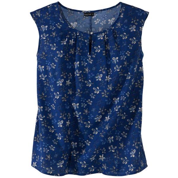 Damen-Bluse mit Blumen-Muster