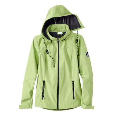 Damen-Softshell-Jacke mit Kapuze