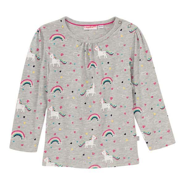 Baby-Mädchen-Shirt mit Einhorn-Muster