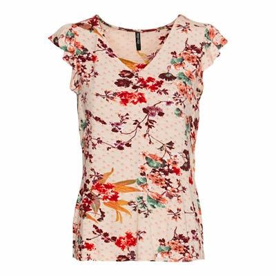 Damen-T-Shirt in Blumen-Optik