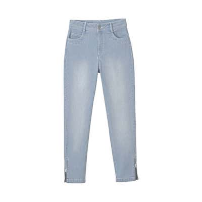 Damen-Jeans mit Zipper am Beinende