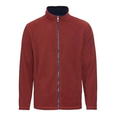 Herren-Fleece-Jacke mit kleiner Stickerei