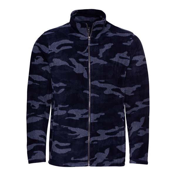 Herren-Fleecejacke mit Camouflage-Muster