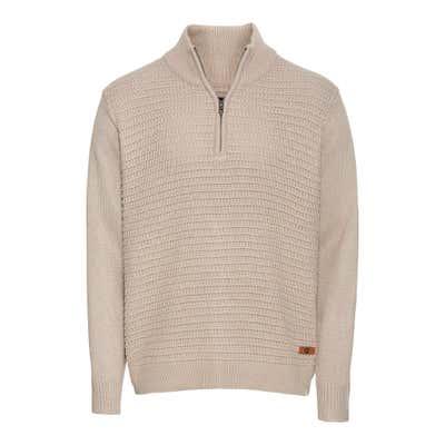 Herren-Pullover mit Troyer-Kragen