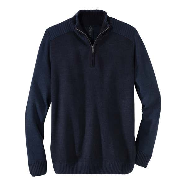 Herren-Pullover mit modischem Rippbund
