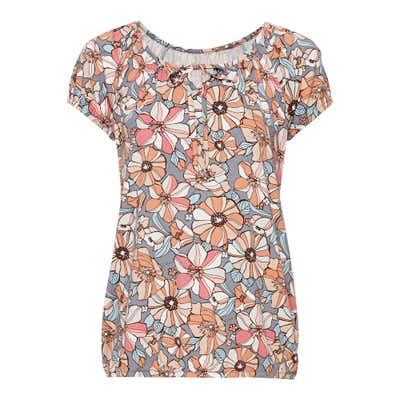 Damen-T-Shirt mit elastischen Bündchen
