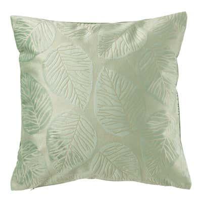 Kissenhülle mit schöner Blätter-Prägung, ca. 40x40cm