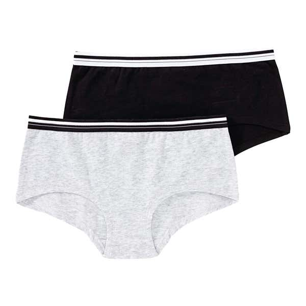 Mädchen-Panty mit Kontrast-Bund, 2er Pack