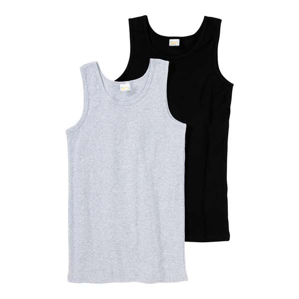 Jungen-Unterhemd aus Baumwolle, 2er Pack