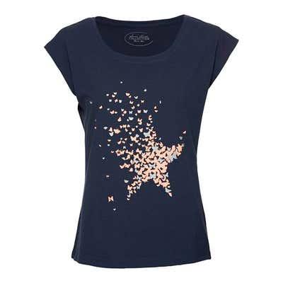 Damen-T-Shirt mit Glitzereffekten
